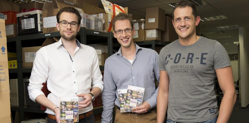 Die Gründer von MEDIAFIX und FILMFIX: Stefan Wickler, Hans-Günter Herrmann und Christoph Kind